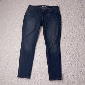 Loft 12 / 31 Curvy Skinny Jeans Dark Wash Stretch